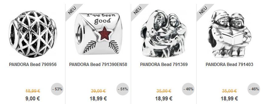 Angebote - Pandora Schmuck Elemente in Silber